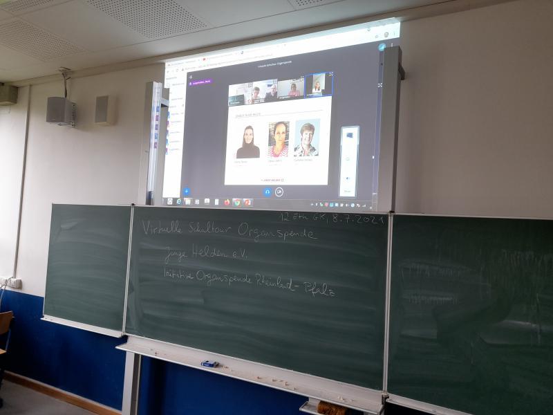 Virtuelle Schultour Organspende - Foto/Abbildung: Matthias Baldauf