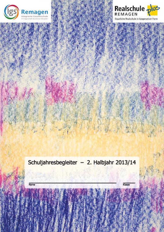 Titelbild Schuljahresbegleiter - 2. Halbjahr 2013/14 - Foto/Abbildung: Eva-Maria Grebenstein (10a)